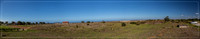 Panorama view of Jeffreys Bay at the Eastern Cape of South Afric