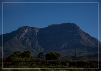 Lanscape of the Western Cape along the Route 62 in South Africa